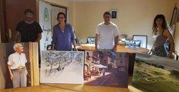 """Foto de los ganadores de XXXI concurso de pintura """"Ciudad de Frías"""""""
