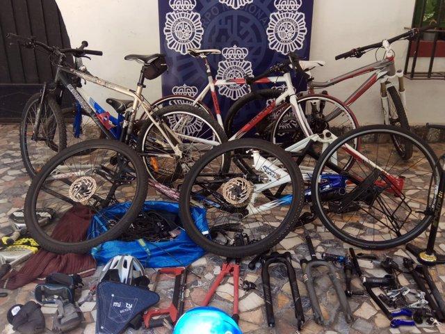Bicis recuperadas por la Policía Nacional