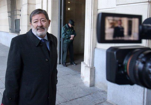 Francisco Javier Guerrero llega a la novena sesión del juicio del caso ERE