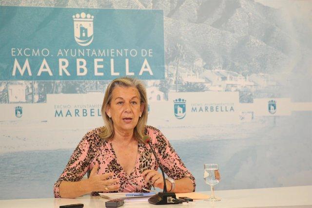 La edil de Ordenación del Territorio de Marbella, Francisca Caracuel