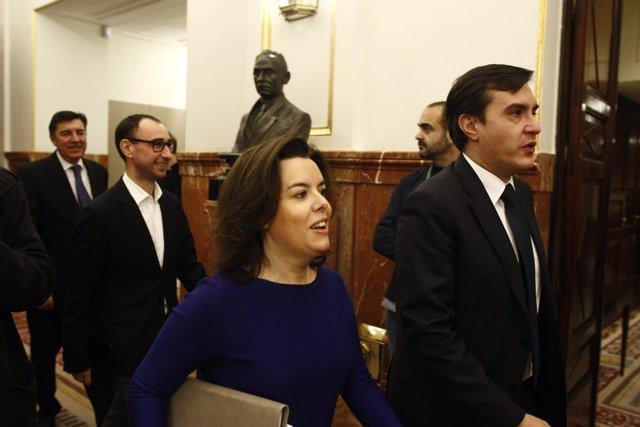 Sara Sáez de Santamaría y José Luis Ayllón en el Congreso