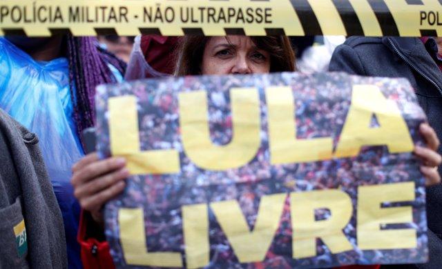 Manifestación en apoyo de Luiz Inácio Lula da Silva