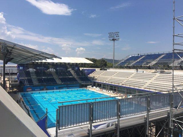 Las piscinas Bernat Picornell, sede de los Europeos de Waterpolo 2018