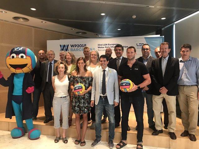 Acto de apoyo de la Diputación de Barcelona a las selecciones de Waterpolo