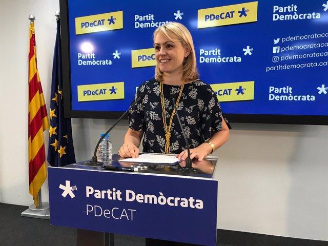 La portavoz del PDeCAT Maria Senserrich valora la reunión