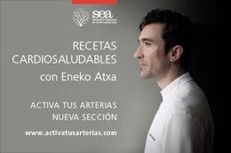 Recetas cardiosaludables de la Sociedad de Arteriosclerosis con Eneko Atxa