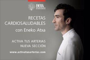 Recetas cardiosaludables del cocinero Eneko Atxta, con 4 estrellas Michelin (SOCIEDAD ESPAÑOLA DE ARTERIOSCLEROSIS)
