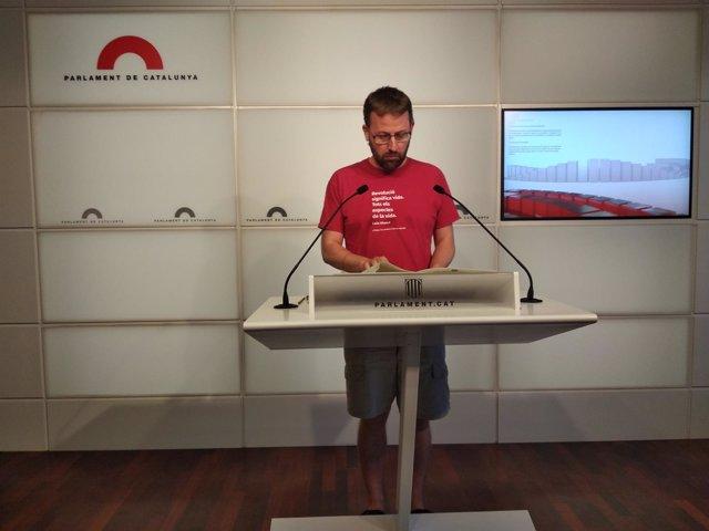 El diputado de la CUP en el Parlament Vidal Aragonés