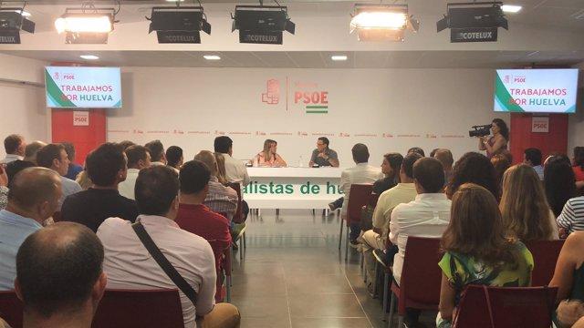 Susana Díaz, en un acto de partido en Huelva
