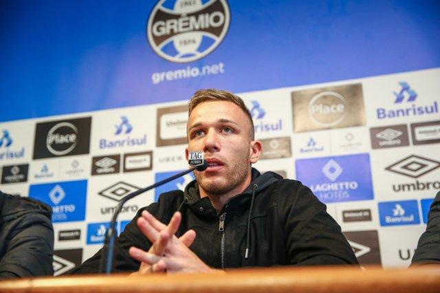 El jugador brasileño Arthur Melo