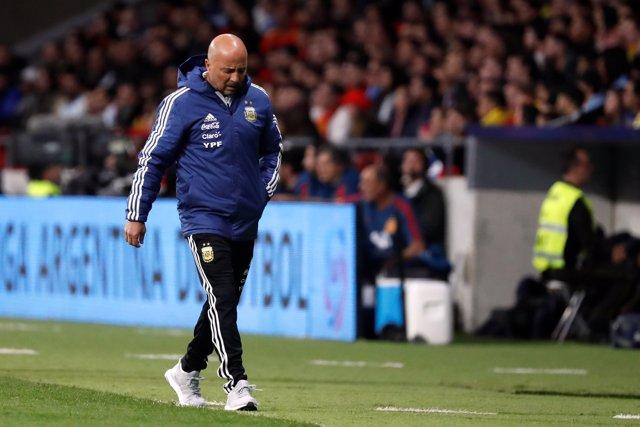 El seleccionador de Argentina, Jorge Sampaoli