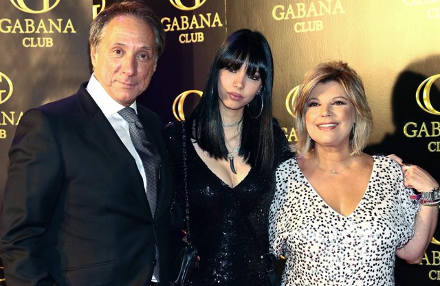 Terelu Campos con Alejandro Rubio y su hija Alejandra Rubio Borrego