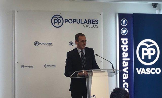Alfonso Alonso, presidente del PP vasco (Foto Archivo)