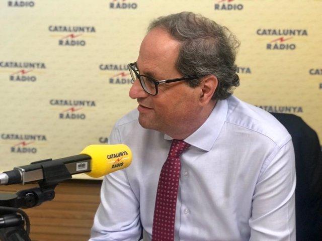 Quim Torra en Catalunya Ràdio
