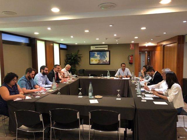 Reunión PSOE y Ciudadanos