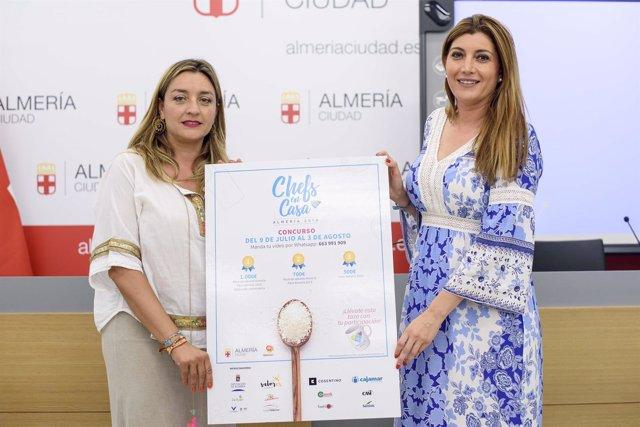 María López Asensio y Carolina Lafita, durante la presentación del concurso.