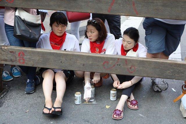 Cruz Roja y DYA atienden a 35 personas tras el encierro de Fuente