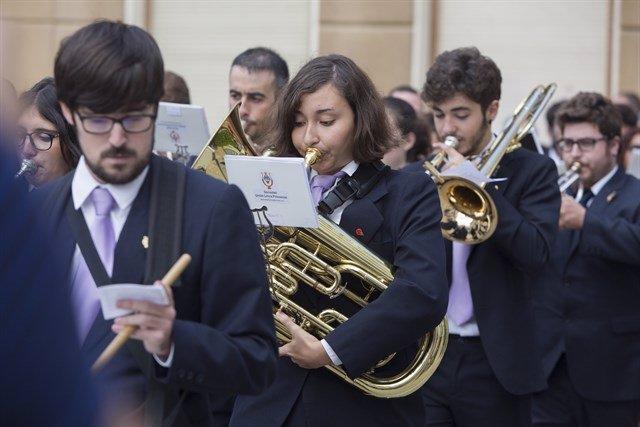Imagen de archivo de una banda de música