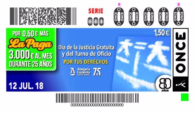 Cupón de la ONCE ICA Oviedo