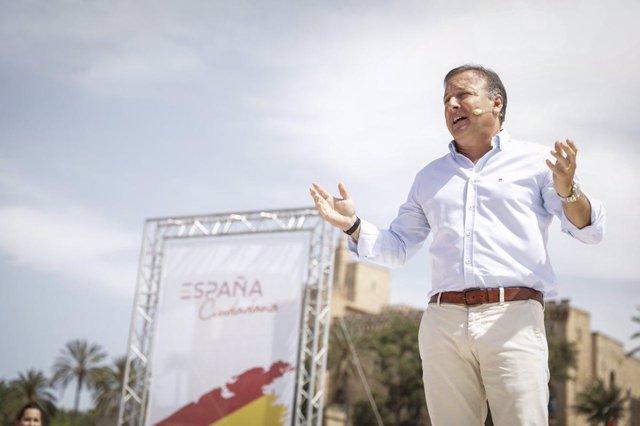 Joan Mesquida en el acto de la plataforma 'España Ciudadana' el 8 de julio