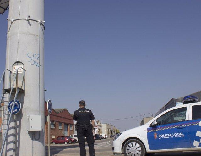 Cánaras de videovigilancia instaladas en La Puebla de Alfindén