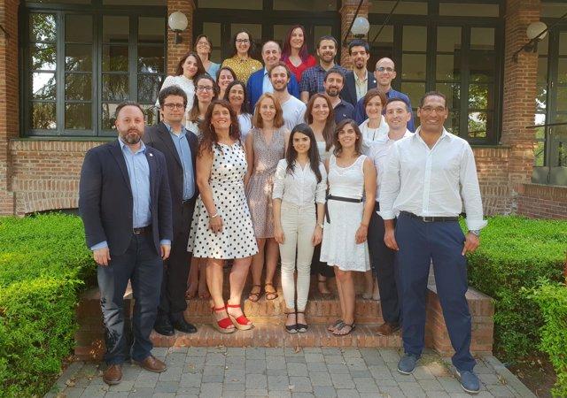 Miembros de RAICEX durante la presentación de la organización en Madrid