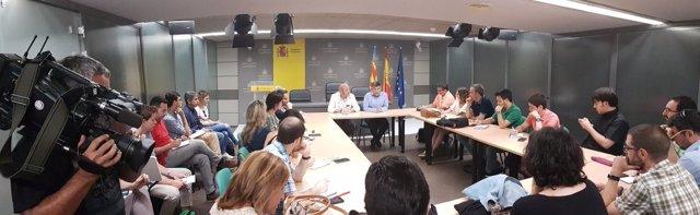 Encuentro con el delegado del Gobierno en la Comunitat Valenciana