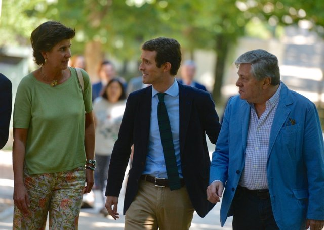 Acto de Pablo Casado en Madrid por las primarias del PP.
