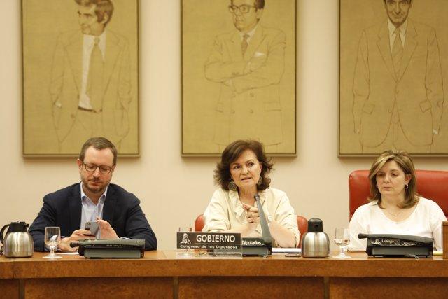 Carmen Calvo compareix en la Comissió d'Igualtat del Congrés