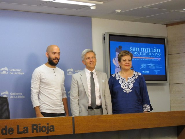 De izquierda a derecha, Calzada, Rodríguez Osés y Martínez.