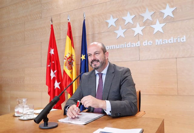 Pedro Rollán en rueda de prensa del Consejo de Gobierno