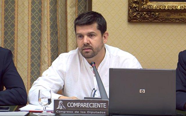 Jesús Domínguez, portavoz de víctimas de Angrois, en el Congreso