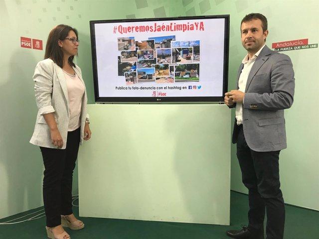 Presentación de la campaña antisuciedad del PSOE