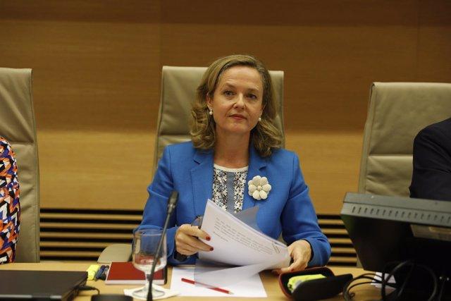 Nadia Calviño comparece en la Comisión de Economía y Empresa del Congreso