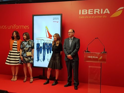 Presentación del uniforme de Iberia en la Mercedes Benz Fashion Week