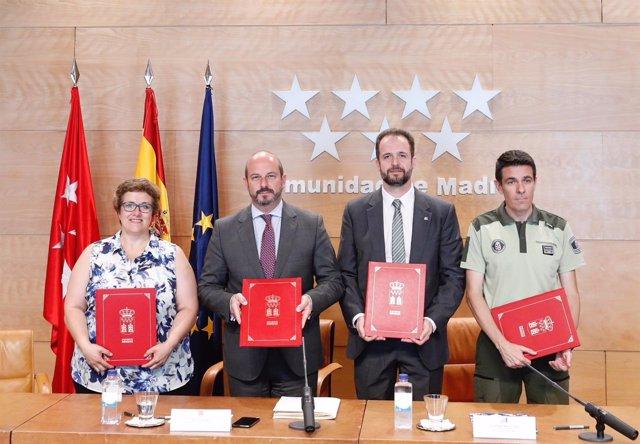 Acuerdo con los agentes forestales en la Comunidad de Madrid