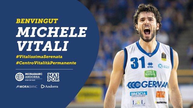 El nuevo jugador del MoraBanc Andorra Michele Vitali