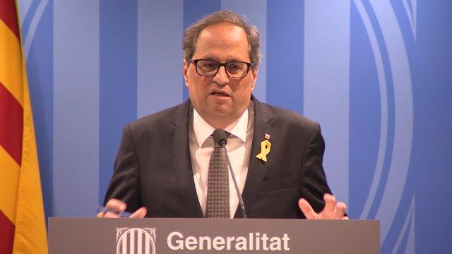 El presidente de la Generalitat Quim Torra, en una foto de archivo