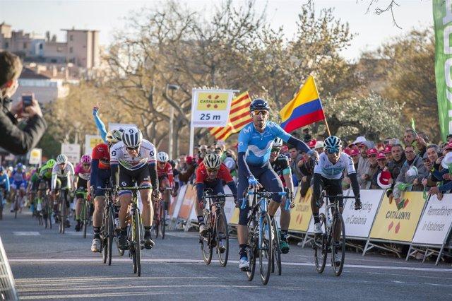 Victoria de Alejandro Valverde en Valls en la Volta 2018