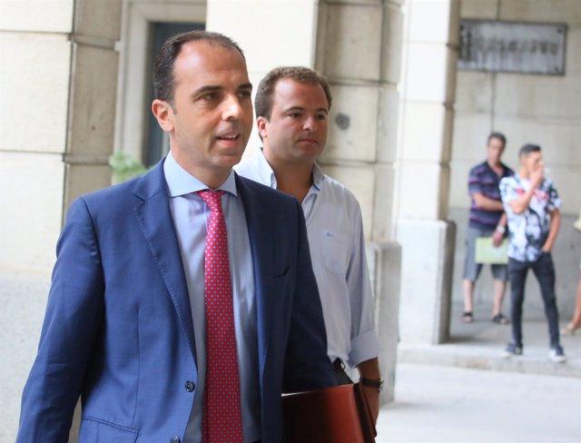 Javier Millán, portavoz municipal de Cs en Sevilla, llega al juicio de los ER