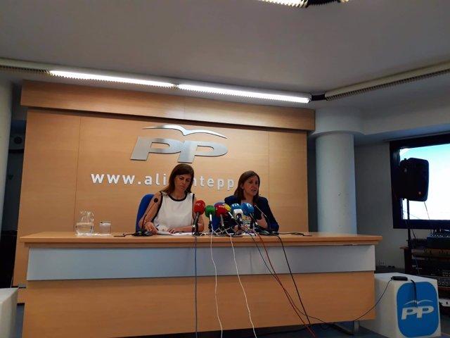 Asunción Sánchez Zaplana y Maria José Català, este martes