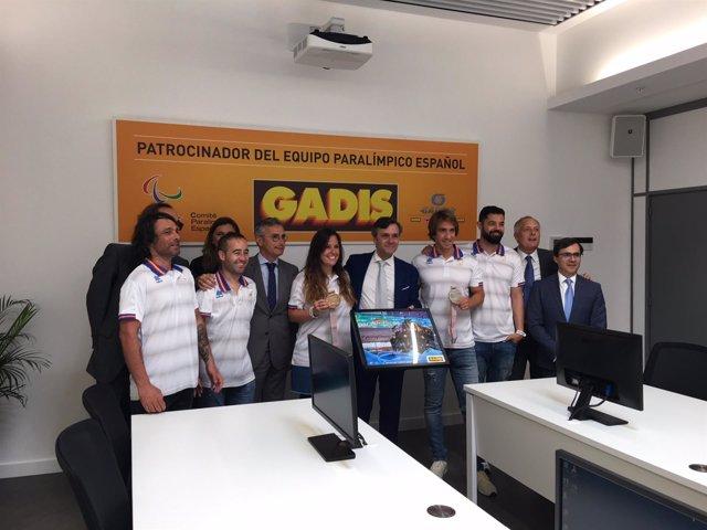 Los deportistas paralímpicos de Pyeongchang visitan la sede de GADISA