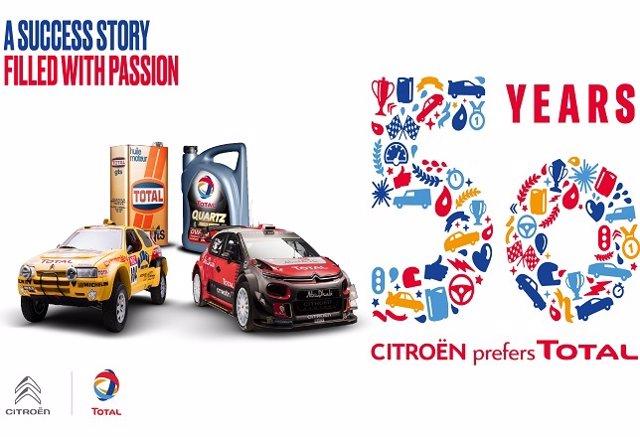 50 Años De Colaboración De Citroën Y Total Lubricantes