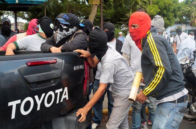 Altercados en Diriamba, Nicaragua
