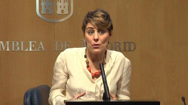 Ruiz-Huerta en rueda de prensa en la Asamblea de Madrid