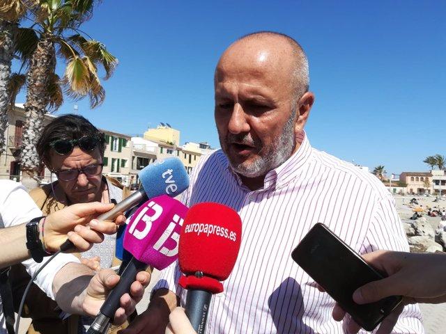 Miquel Ensenyat en el acto en el que se anunciaron las cuatro candidaturas
