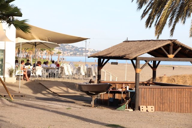 Chiringuito, Terraza, hamaca, verano, turismo, turistas, playa, chiringuitos
