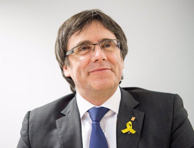 Carles Puigdemont ofrece una rueda de prensa en Berlín