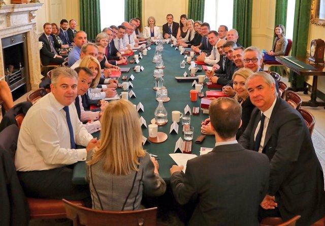 Reunión del Gobierno de Theresa May