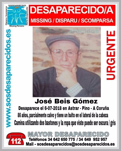 Unas 40 personas buscan a un octogenario desaparecido desde el viernes en O Pino (A Coruña)